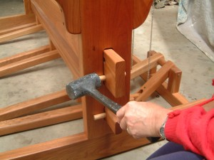Strong joints of Traditional Tapestry Loom